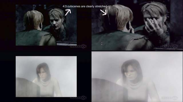 Silent Hill HD Collection stretched cutscenes