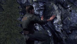 Silent Hill Downpour - climbing a rock