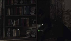 Silent HIll Downpour - pulling a bookcase