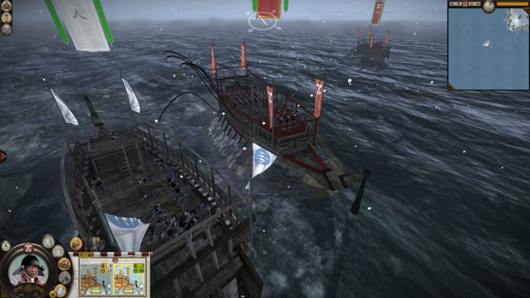 Shogun 2 - boarding an enemy vessel