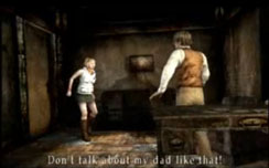 Silent Hill 3 - Heather doesn't let anyone bad mouth her dad