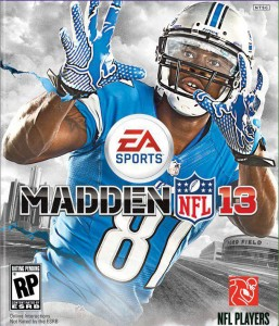 Madden NFL 13 cover art featuring Calvin Johnson