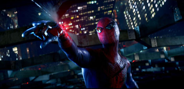 Amazing Spider-Man movie - flashing web shooters