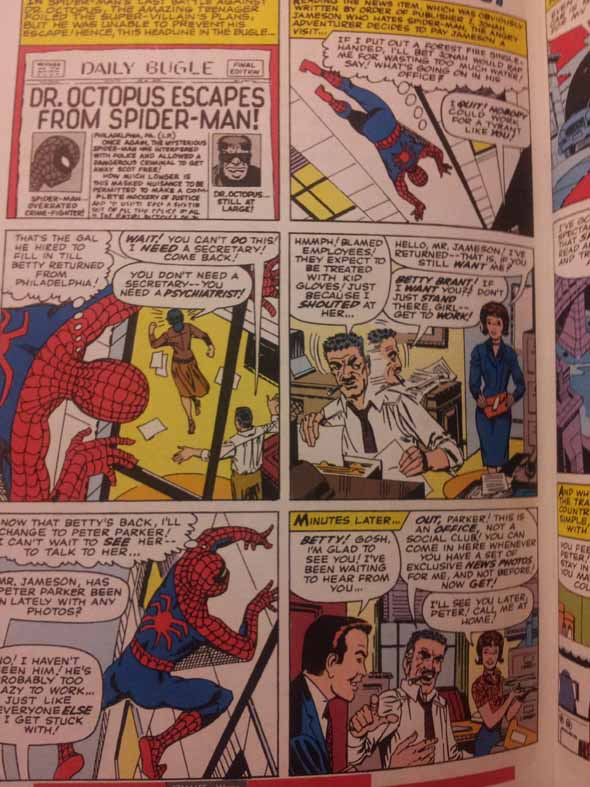 Spider-Man comic panel