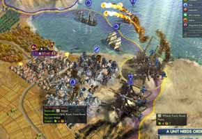 Civilization V Gods & Kings - city seige