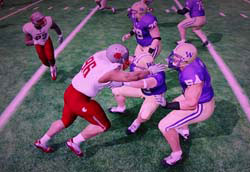 NCAA Football 13 - no double team pass blocking
