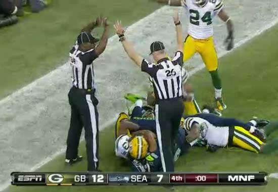 Sept. 24, 2012, Green Bay vs. Seattle Simultaneous Hail Mary