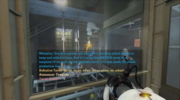 Portal 2 - defective turrets