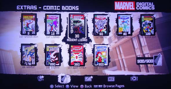 Amazing Spider-Man game - Collectible comics