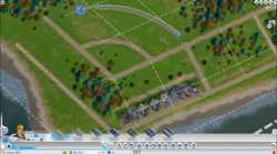 SimCity - snap-to road grid