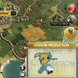 Civilization V - city notification